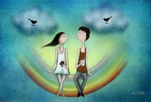 Vær sammen med de mennesker, der elsker dig, fordi du er dig selv