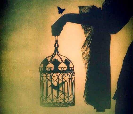 En fugl udklækket i et bur vil tro, at det er en sygdom at flyve