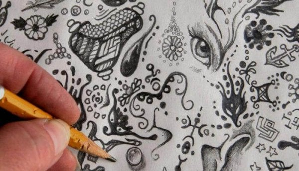Hvad betyder dine tankeløse tegninger?