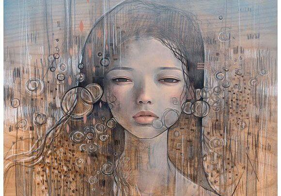 Sløret maleri af kvinde, der undrer sig over, hvorfor forhold ender