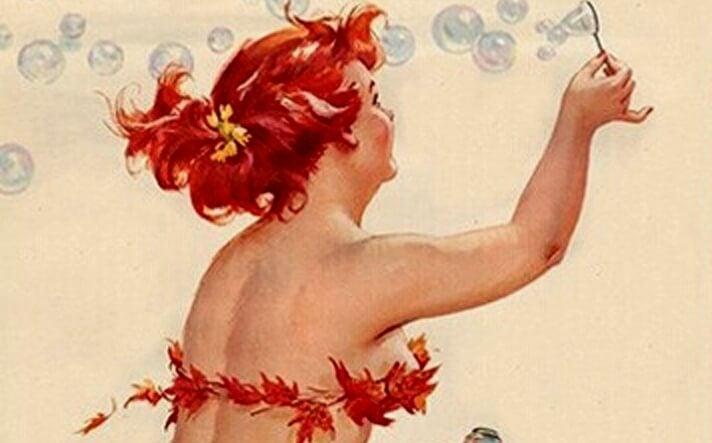 En kvinder blæser sæbebobler og nyder sin ensomhed