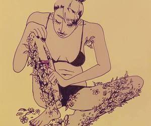 Kvinde barberer blomster af ben, for hun er ikke en prinsesse