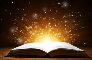 Guld kommer ud af bog, som eksempel på bøger om psykologi