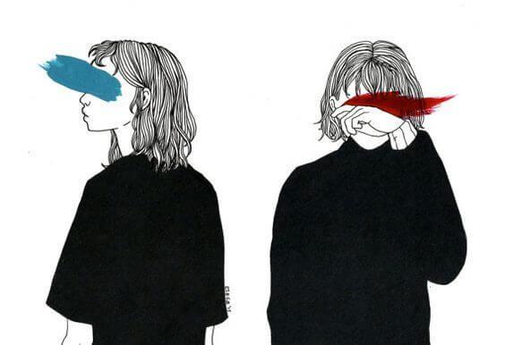 Personer øjne er blokeret af farve