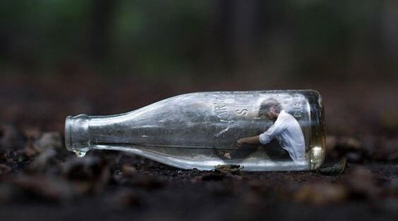 Mand i flaske
