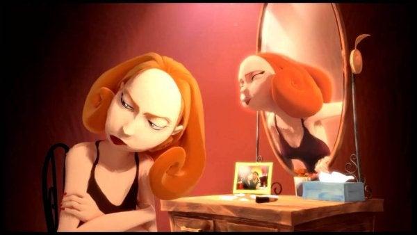 """Spejlbilleder siger til kvinde """"accepter din krop"""""""