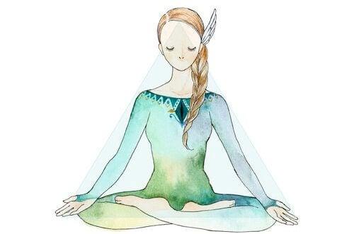 For at meditere skal du lukke dine øjne og se indad