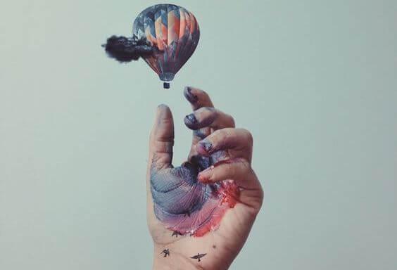 Luftballon med maling