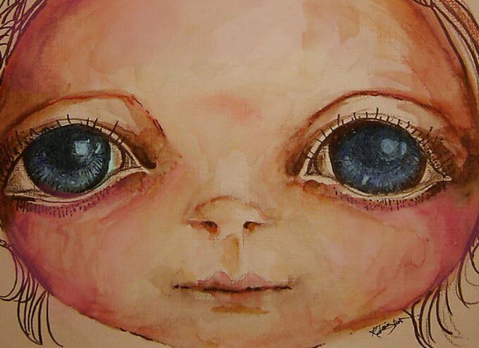 Pige med store øjne