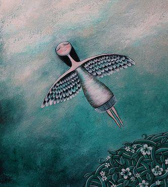 Pige med vinger behersker indre fred