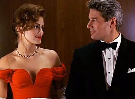 Scene fra Pretty Woman med Julia Roberts og Richard Gere. Giv dig selv lov til at åbne op for kærlighed.