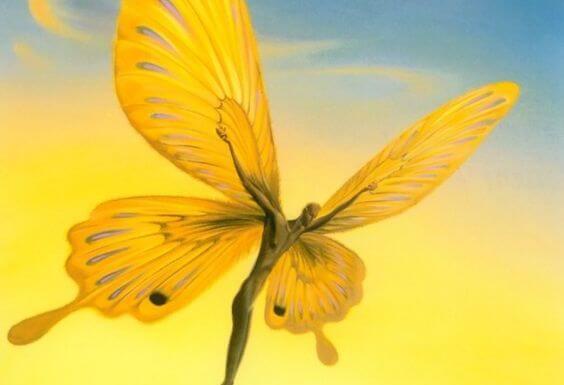 """Mand som sommerfugl vil flyve hvor som helst hen for kærligheden, for han siger """"jeg elsker dig trods afstanden"""""""