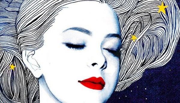 Kvinde med stjerner i håret er åben overfor forandringer i livet