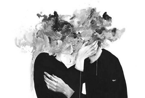 Et par uden anisgter kysser