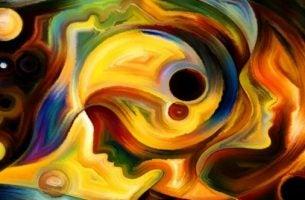 Ansigt med farver illustrerer spændende fakta omkring hjernen