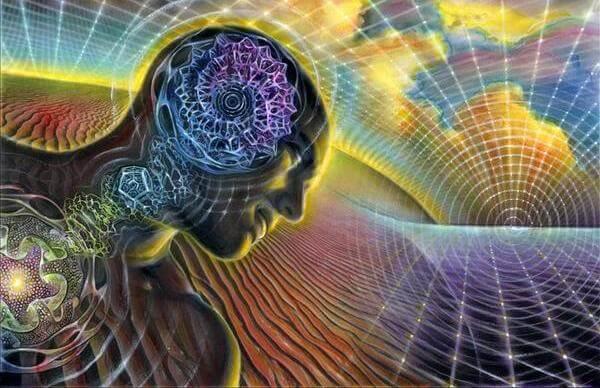 Mand med tandhjul i hjerne symboliserer større selvbevidsthed