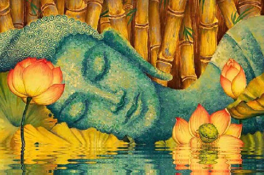 Sovende Buddha uden bekymringer