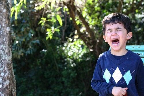 En grædende dreng