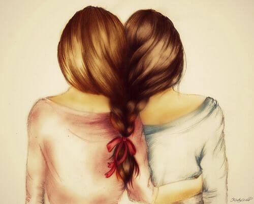 Kvinder med fælles fletning kan ønske at være sammen for evigt