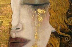 Kvinde græder tårer af guld