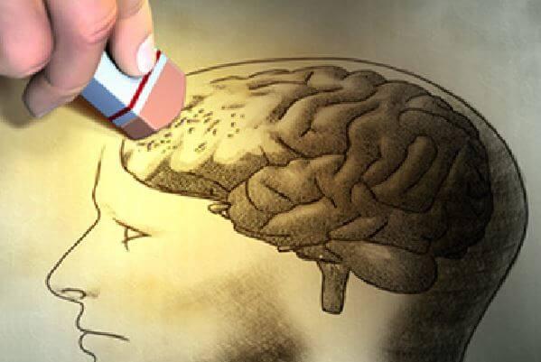 Hjernen bliver slettet på grund af demens