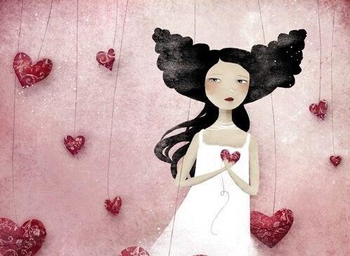 Såret kvinde tager hjerte
