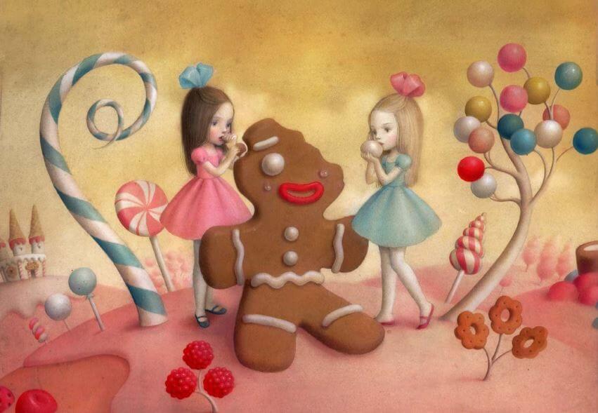 Piger spiser kage