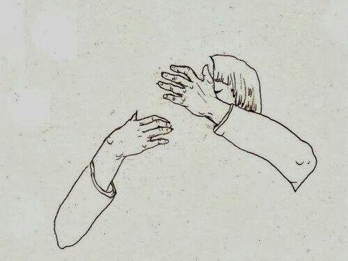 Par krammer som tegn på hengivenhed