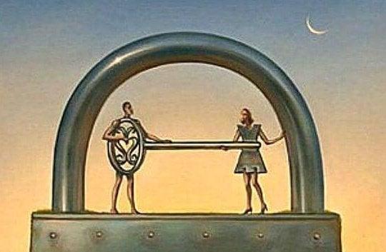 Mand vil låse kvindes hjerte op for at undgå overfladiske forhold