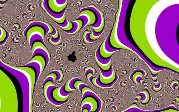 Spiral af mønstre illustrerer fakta om hjernen