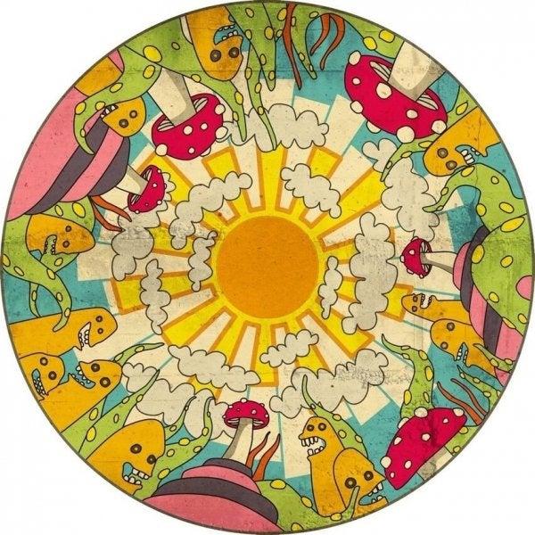Mandala er eksempel på afslappende lege