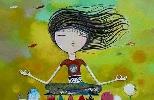 Pige mediterer
