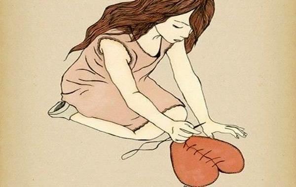 Pige syr hjerte sammen på grund af skuffelse