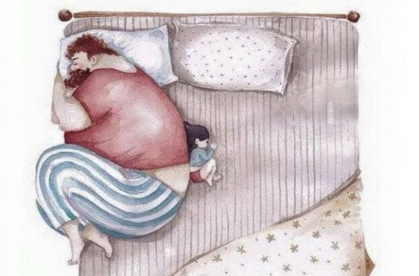 Forældre og børn: aftrykket af at blive forladt