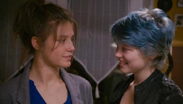 Emma og Adele i filmen Blå er den varmeste farve