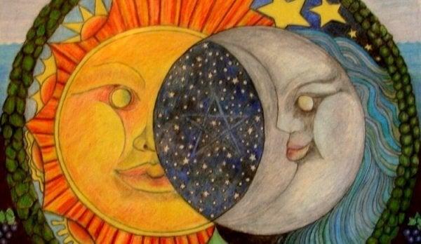 Månen og solen