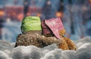 To bamser i sneen