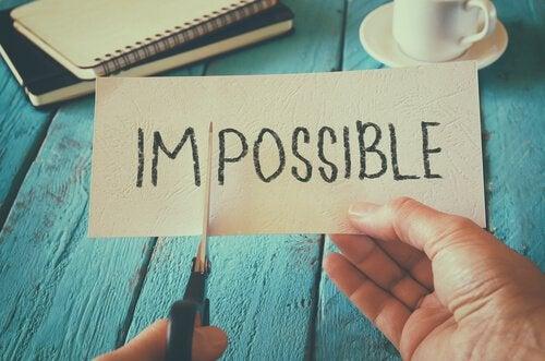 Impossible klippes over og bliver til I´m possible