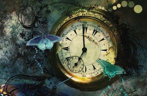 Ur med fugle omkring symboliserer, at tid er værdifuldt