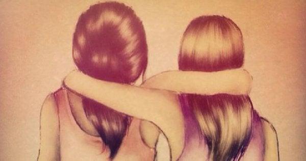 To veninder krammer hinanden