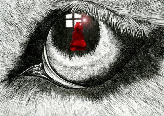 Lille rødhætte i ulvs øje