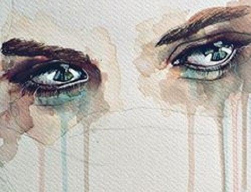Øjne græder af at sørge