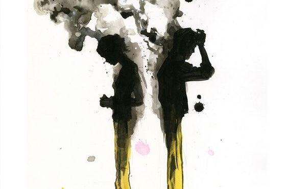 To personer med mangel på empati er vrede og udsender sort røg