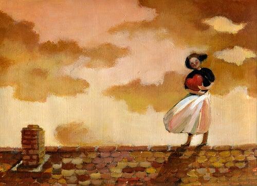 Kvinde med hjerte på tag