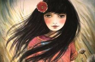 Pige med vind i håret symboliserer oplyste mennesker