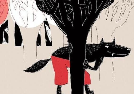 Ulv, der gemmer sig i skoven, symboliserer vores tendens til at være mistroiske