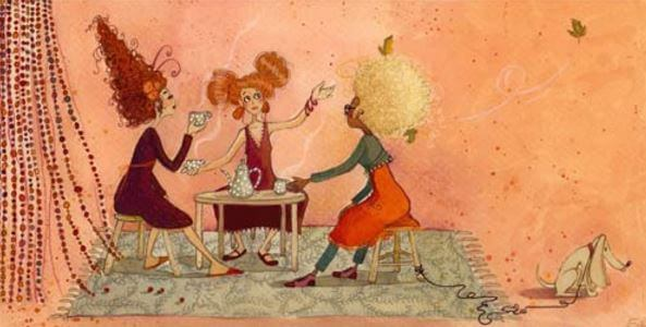 Gode venner mødes over en kop kaffe
