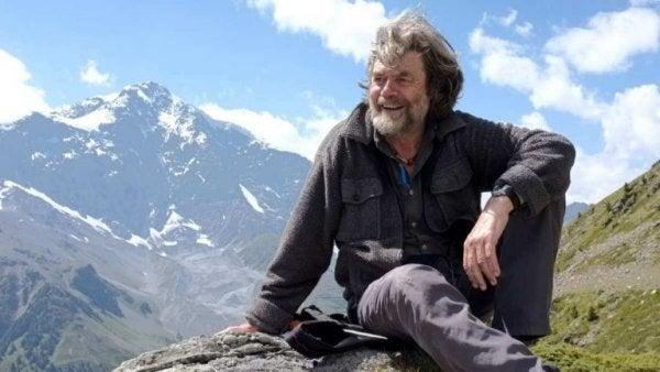 Reinhold Messner på bjergtop