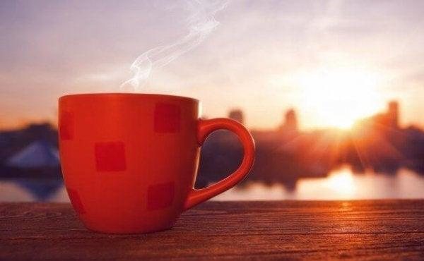 Kaffe foran solopgang er sådan mange starter dagen