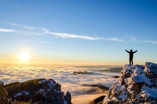 Mand har besteget bjerg og nægtede at give op